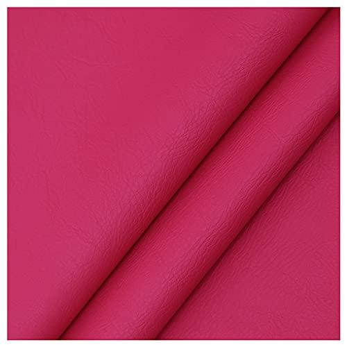 NIANTONG Tessuto Tappezzeria in Ecopelle PU Finta Pelle al Metro 138x100cm, Tessuto Similpelle Impermeabile per Poltrona Divano, Artigianato, Coprisedili per Auto(Color:Rosso Rosato)