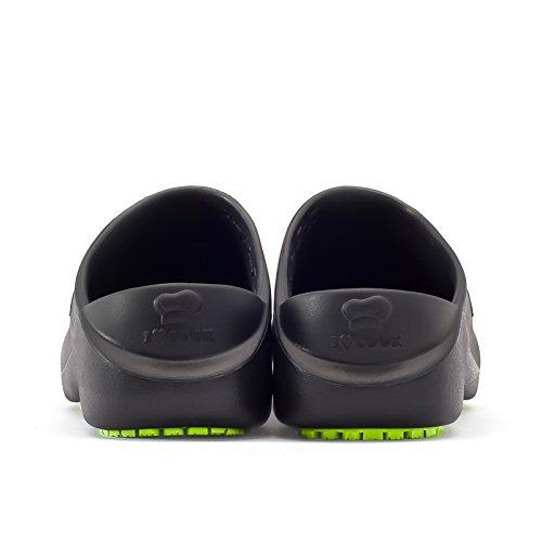 Product Image 4: ESCOFFIER Waterproof Slip Resistant Kitchen Chef Clog - Non Slip Work Mule Shoes for Men Women, Black, 11 Women/9 Men