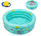 Ucradle Piscine Gonflable, Baignoire Gonflable Ronde Piscine Pataugeoire...
