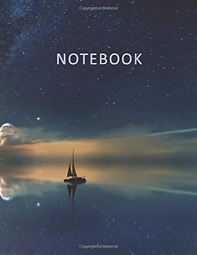 Notebook: Quaderno per appunti con 100 pagine bianche e numerate  Elegante copertina con un bellissimo Cielo Stellato riflesso sullOceano  Misura ... Doddles, Schizzi, Disegni, Note, Memorie