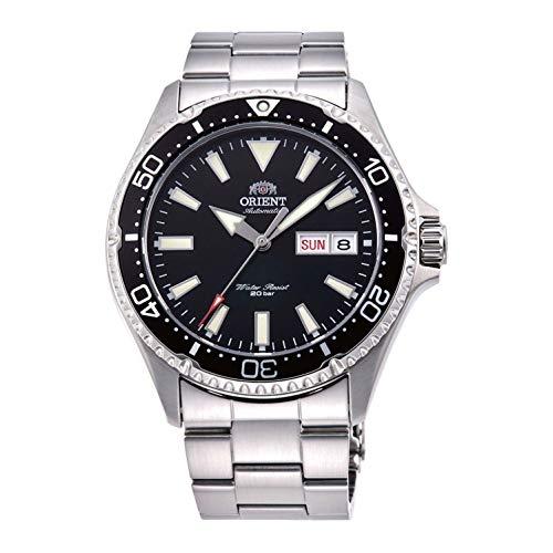 Orient Unisex Erwachsene Analog Automatik Uhr mit Edelstahl Armband RA-AA0001B19B