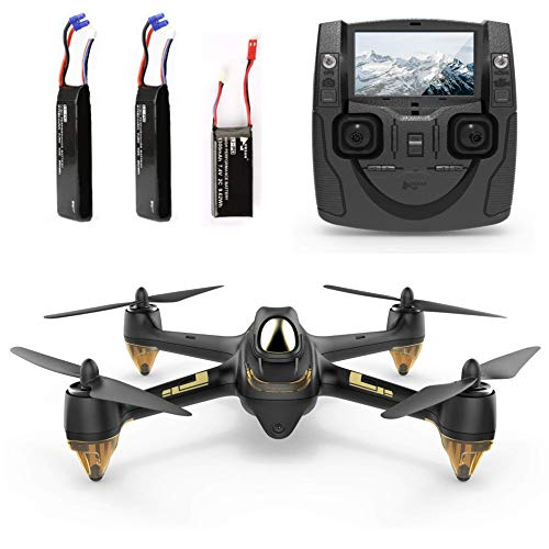 Hubsan H501S X4 Brushless Droni GPS 1080P HD Fotocamera FPV con H901A Trasmettitore Nero Standard Versione(2 batterie di Droni)