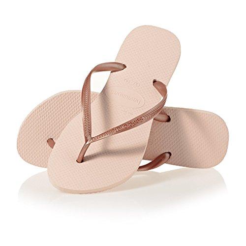 Havaianas Damen Slim Zehentrenner, Rosa (Ballet Rose 0076), 39/40