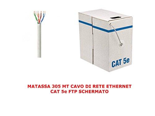 Mi tienda inteligente MANEJO 305 MT Metros Cable de red FTP Cat 5E LAN ETHERNET 5 E Internet SHIELDED Reel Internet Router Access Point