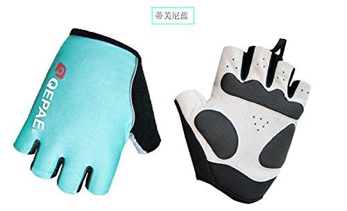 QEPAE Guanti da Ciclismo Sport Gel Guanto efingerlose Gloves 055, Hellblau