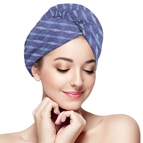 Xuetu Microfaser Dry Hair Cap, super saugfähige, schnell trocknende Handtuchverpackung, Turbane für nasses Haar - Regenkette in Sweet