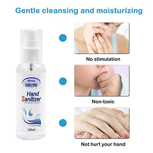 Hand Sanitizer Hand Soap Refreshing Gel Pump Bottle,Hand Sanitizer Refill 3.4 Fl Oz