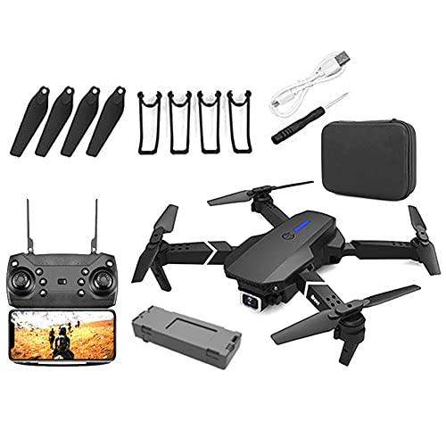 Drone, Drone con fotocamera, E88 Pro Drone per adulti 4K Pro Dual fotocamera Pieghevole Video live Video Drone RC Quadcopter AirCrafts con 1 Battery