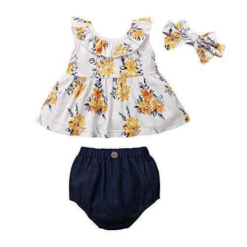 Gajaous Conjunto de ropa de verano 0 – 3J para bebé niña