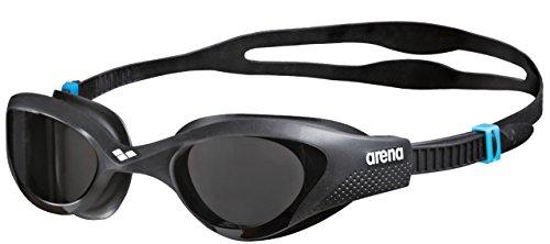 ARENA The One Occhialini Nuoto Anti-Appannamento Unisex Adulto, Occhialini Piscina con Ampie Lenti, Protezione UV, Ponte Nasale Autoregolante, Guarnizioni Orbit-Proof, Nero (Smoke-Grey-Black)