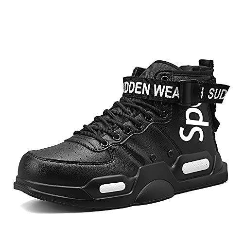 FUSHITON Zapatillas Altas de Moda para Hombre Zapatillas Bajas Estilo Libre Casual Running Walking Calzado Deportivo