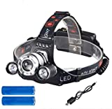 Zyuan head torch Powerful LED Headlight Waterproof Headlight With Camping Light Running Lights For Runners headlamp ShanDD (Color : A)