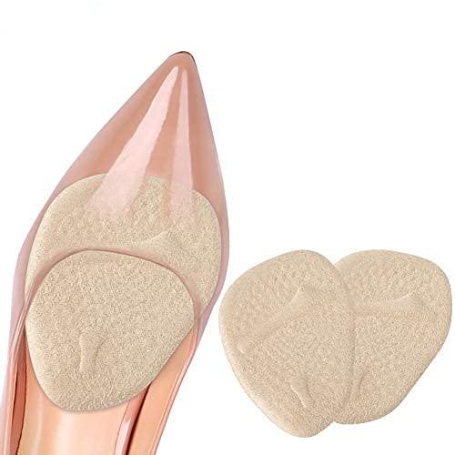 Demi semelle,4 PCS Semelles Chaussures Trop Grandes, Demi Semelle Silicone Avant Pied pour un Soulagement Rapide De La Douleur, Demi Semelles Talon Haut pour Femme