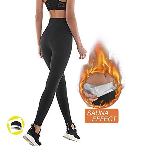 NHEIMA Pantaloni Sauna Dimagranti, Leggings Anticellulite Donna Fitness, Legging Termici Vita Alta...