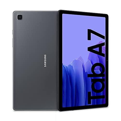 Samsung Galaxy Tab A7 Tablet, Display 10.4' TFT, 32GB Espandibili fino a 1TB, RAM 3GB, Batteria 7.040 mAh, LTE, Android 11, Fotocamera posteriore 8 MP, Grigio (Dark Gray) [Versione Italiana]