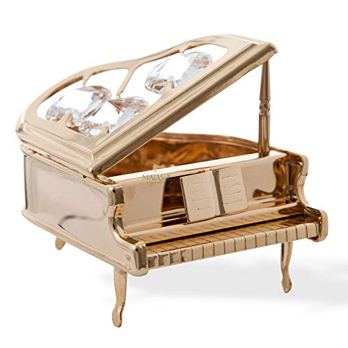 Matashi 24K Gold Plated Classic Grand Piano Keepsake...