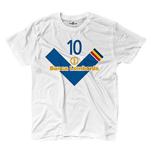 KiarenzaFD Maglietta T-Shirt Calcio Vintage Roberto Brescia 10 Baggio Stagione 02-03 Leggen