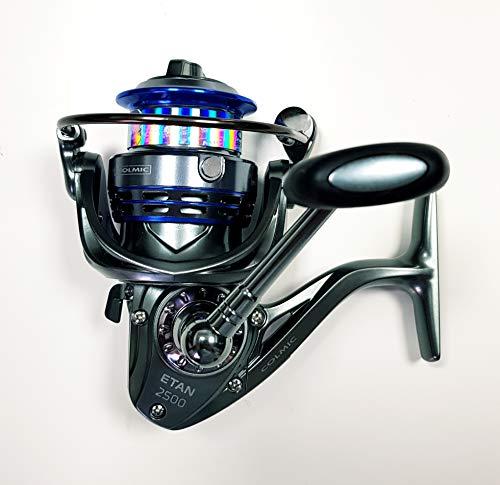 Colmic Mulinello da Pesca Etan 2500 con Frizione Anteriore Precisa e Potente da Spinning Bolognese Feeder Fondo Mare Trota Lago Leggero e Affidabile