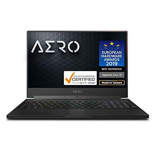 Gigabyte AERO 15 Classic-SA-F74ADW 15' Thin Bezel LG 144Hz FHD IPS LCD, i7-9750H, NVIDIA GeForce GTX 1660 Ti, Samsung 16GB RAM, M.2 PCIe 512GB Intel 760P SSD, Win10 Home, 94Wh Ultra Slim Gaming Laptop