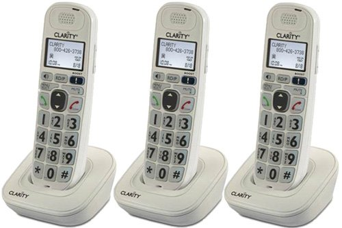 Clarity D704HS Moderate Hearing Loss Cordless Handset-Bundle (3 Pack)