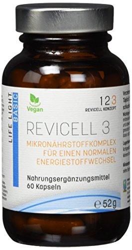 LIFE LIGHT REVICELL 3 (für einen normalen Energiestoffwechsel und Nervenfunktion, 60 Kapseln)