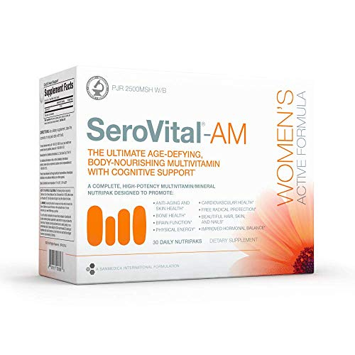 SeroVital Multivitamin Pack for Women - Hair Nails and Skin Vitamins for Women - Women Hormone Support Supplements - DHEA Supplement - Vitamins for Women - 30 Nutripacks 1