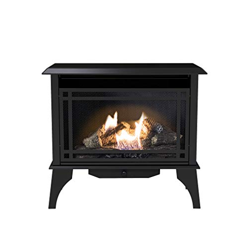 Pleasant Hearth VFS2-PH30DT 30,000 BTU 32-Inch Intermediate Gas vent free stove, Black