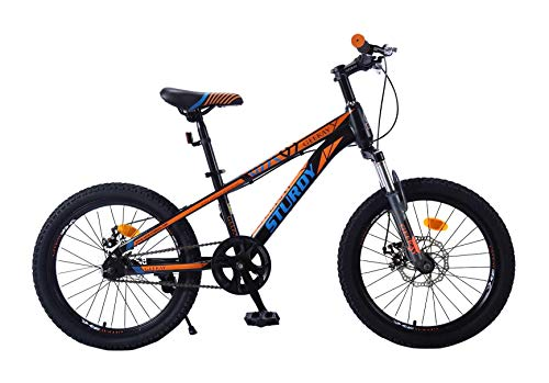 Geekay kids bicycle 20 inch wheel non gear cycle for boys girls | Single Speed children bikes for age 7 to 10 year size | Bmx Kids toddler Baby with seat adjustment Facility |Suitable height 3' 9' to 4'3' Sturdy 20 inch kids bikes | Orange & Blue