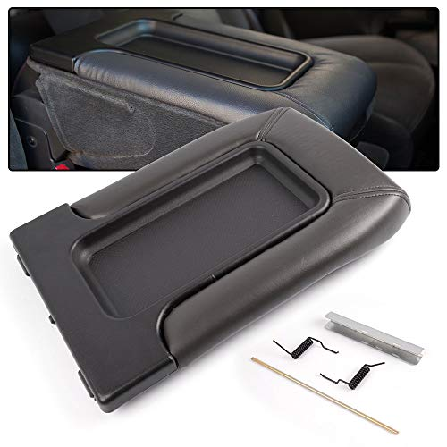 Center Console Lid Repair Kit Compatible for Silverado Avalanche Suburban Tahoe Sierra Yukon/Compatible for Cadillac Escalad 1999-2007 Lid Arm Rest Latch Dark Gray