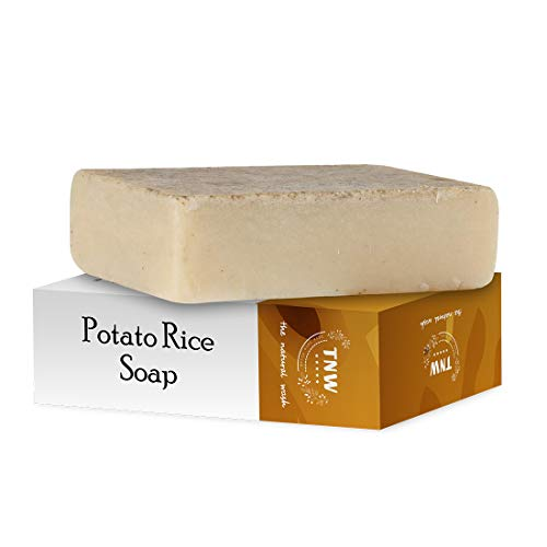TNW-THE NATURAL WASH Handmade Potato Rice Soap Reduces Tanning & Pigmentation-Diminishes Dark Spots-Minimizes Open Pores-Removes Impurities For Oily Skin with Potato, Rice, Papaya & Cucumber- 100 g
