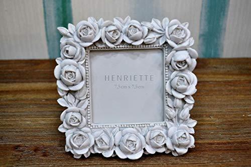 Henriette Cornice PORTAFOTO Bouquet Bianco 13X13 (Interno Foto 7X7) Collezione OSTUNI D15099