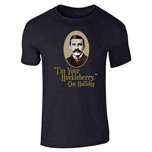Pop Threads I'm Your Huckleberry Doc Holliday Western Quote Black L Graphic Tee T-Shirt for Men