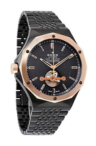 Edox Herren-Armbanduhr Delfin The Original, 43mm Stahlgehäuse, Automatik-Uhrwerk, 8502437GRM GIR