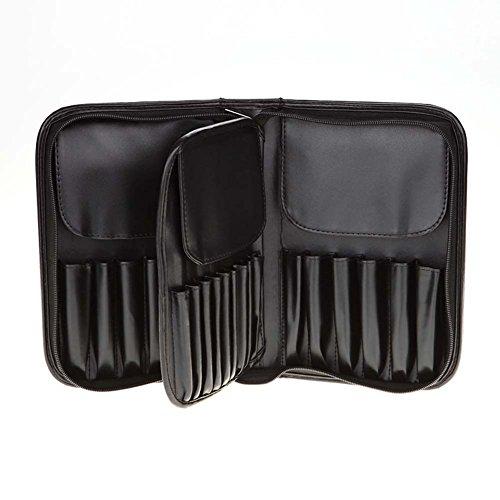 Alextry 29Tasche Porta pennelli Trucco Bag in Pelle PU con Cerniera di Uomini Donne Travel Make up...