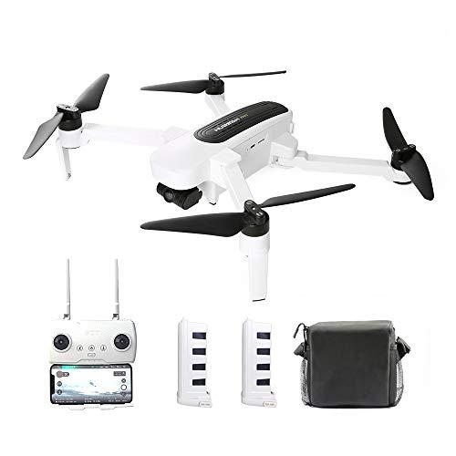 Goolsky Hubsan H117S Zino RC Drone GPS 5G WiFi FPV 4K UHD Camera 3 Assi Gimbal Quadcopter con Custodia per Auto Caricatore per Auto 2 Batteria di Ricambio elica