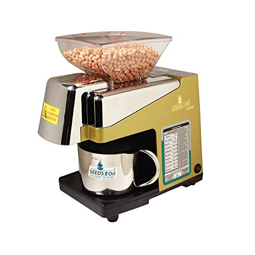 Seeds to Oil S2O-2A 450-Watt Oil Extractor Machine, Gold, White