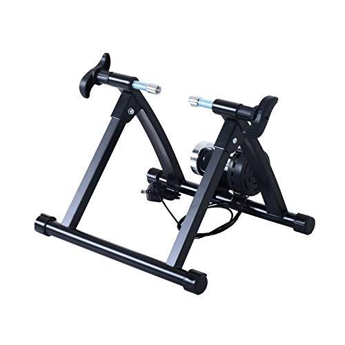 """HOMCOM Rollentrainer Fahrradtrainer Fahrrad Heimtrainer Magnetbremse klappbar verstellbar 26\""""-28\"""" oder 700C Stahl Schwarz 54,5 x 47,2 x 39,1 cm"""