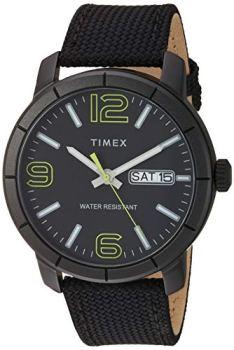 Timex Men's TW2T72500 Mod 44 Black/Green Fabric Strap Watch