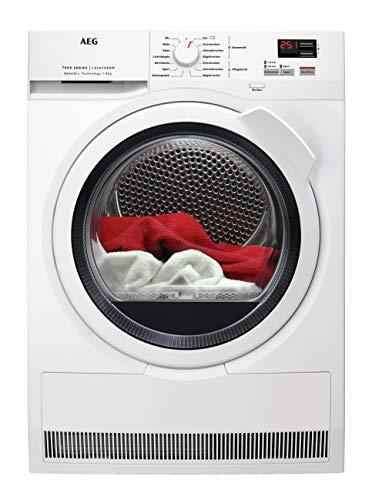 AEG T7DBZ46580 Wärmepumpentrockner / A++ / 8,0 kg / SensiDry - schonend und energiesparend / Mengenautomatik / Knitterschutz / Kindersicherung / Startzeitvorwahl / transparente Tür