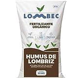 Suinga 1.000 KG ABONO Fertilizante ORGANICO Humus DE LOMBRIZ, Sacos de 25 Kg - 41 litros. Apto para Agricultura ecolgica