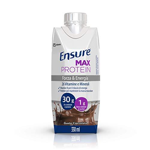 Ensure Max Protein Bevanda Proteica Senza Zuccheri con Proteine del Siero del Latte | Confezione 8x330ml | Gusto Cioccolato