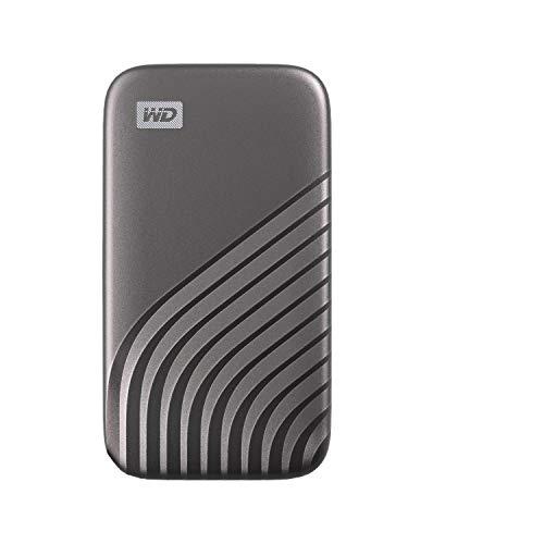 WD My Passport SSD 1TB - tecnología NVMe, USB-C, velocidad de lectura hasta 1050MB/s & de escritura hasta 1000MB/s - Gris