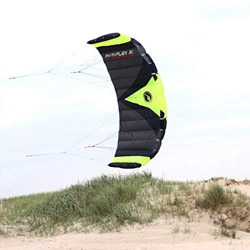 Wolkenstürmer Paraflex Trainer 3.1 Actionkite Neongrün - 3 Leiner Trainer-Lenkmatte zum Mountainboardfahren