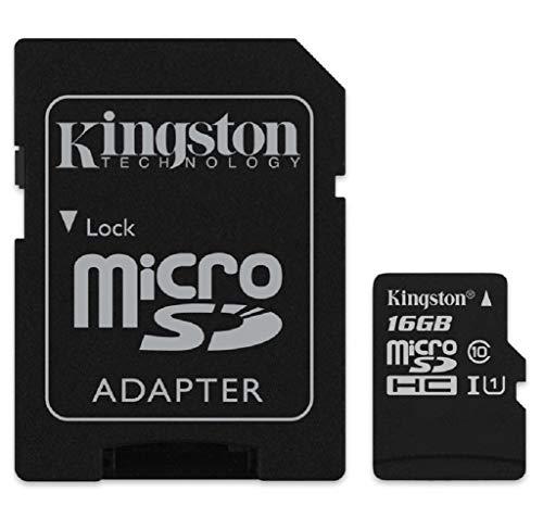Kingston SDCS/16GB Tarjeta de Memoria Sd 1, 16 gb, Negro