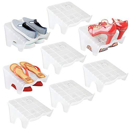 mDesign Juego de 8 organizadores de zapatos – Guarda...