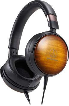 Audio-Technica ATH-WP900 Over-Ear High-Resolution Headphones, Flame Maple/Black