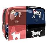 Bolsa de maquillaje portátil con cremallera bolsa de aseo de viaje para las mujeres práctico almacenamiento cosmético bolsa deporte perro