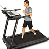 FUNMILY Folding Treadmill, Treadmills for Home with Desk and Bluetooth Speaker, Portable Electric Treadmill Machine for Running Walking Jogging Workout, 265 LBS Weight Capacity (Black)