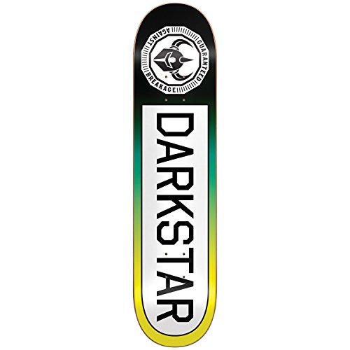 Darkstar 10012383 Timeworks Deck, Yellow Fade, Size 7.75