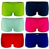 Libella - Lot de 6 - Femme Boxer - Basics Shorties Uni - Sport Seamless Culottes...
